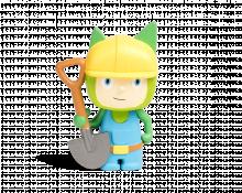 Kreativ Tonie Bauarbeiter
