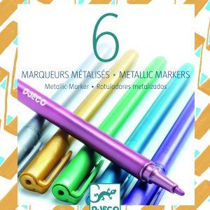 Djeco 8870 Metallic Stifte auswaschbar