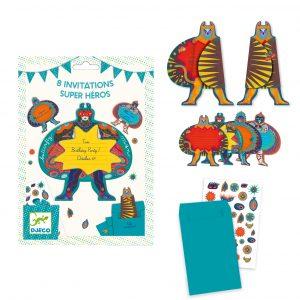 Djeco 4785 Einladungskarten Superhelden
