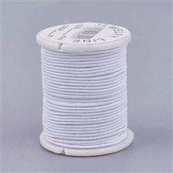 5m Elastischer Gummi 1mm weiß
