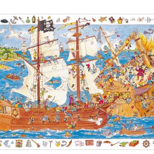 Djeco 7506 Puzzle Entdecker Piraten 100 Teile