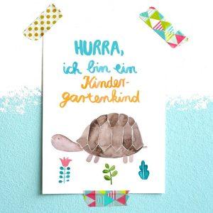 Frau Ottilie Postkarte *Kindergarten* (Schildkröte)