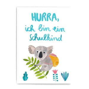 Frau Ottilie Postkarte *Schulkind* (Koala)