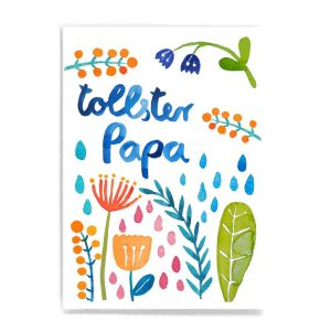 Frau Ottilie Postkarte *Tollster Papa* (mit Blumen)