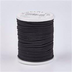 5m Elastischer Gummi 1mm schwarz
