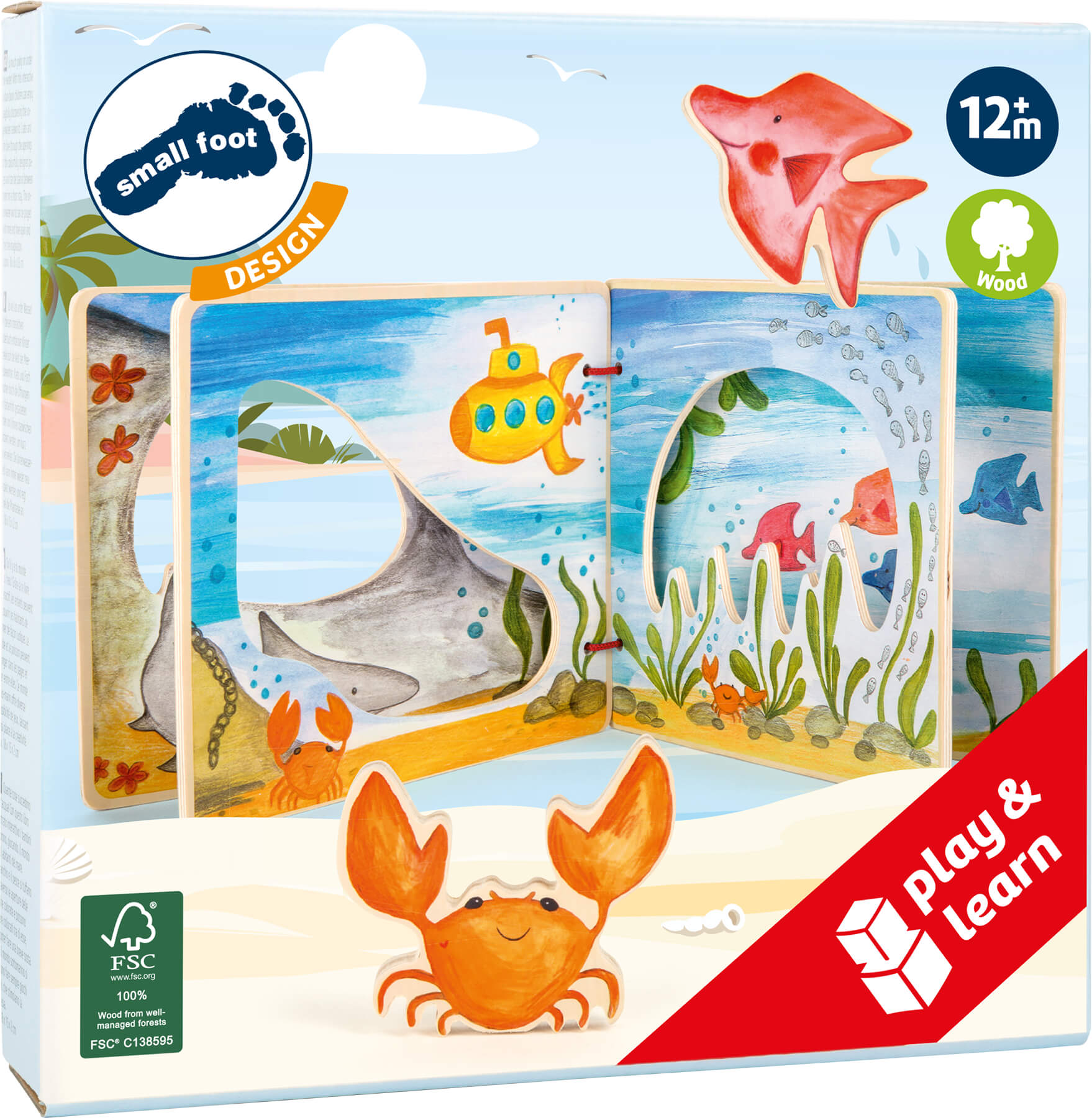 Legler 11290 Holzbilderbuch Unterwasserwelt