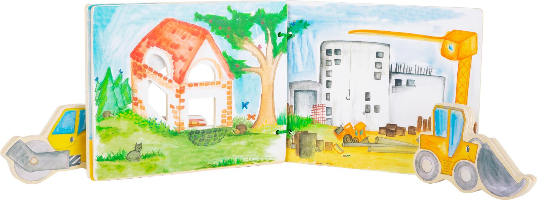Legler 12039 Holzbilderbuch Baustelle