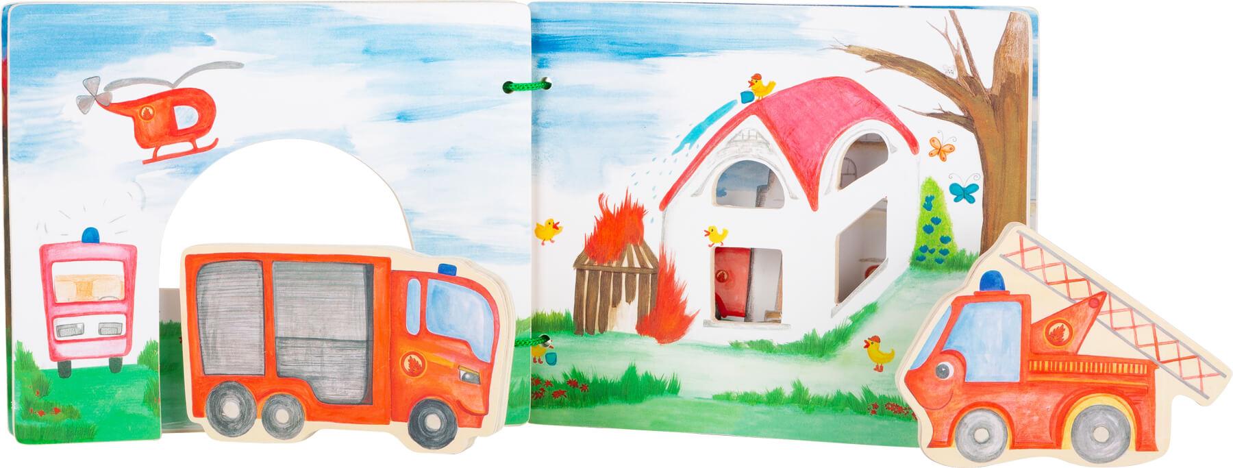 Legler 12040 Holzbilderbuch Feuerwehr