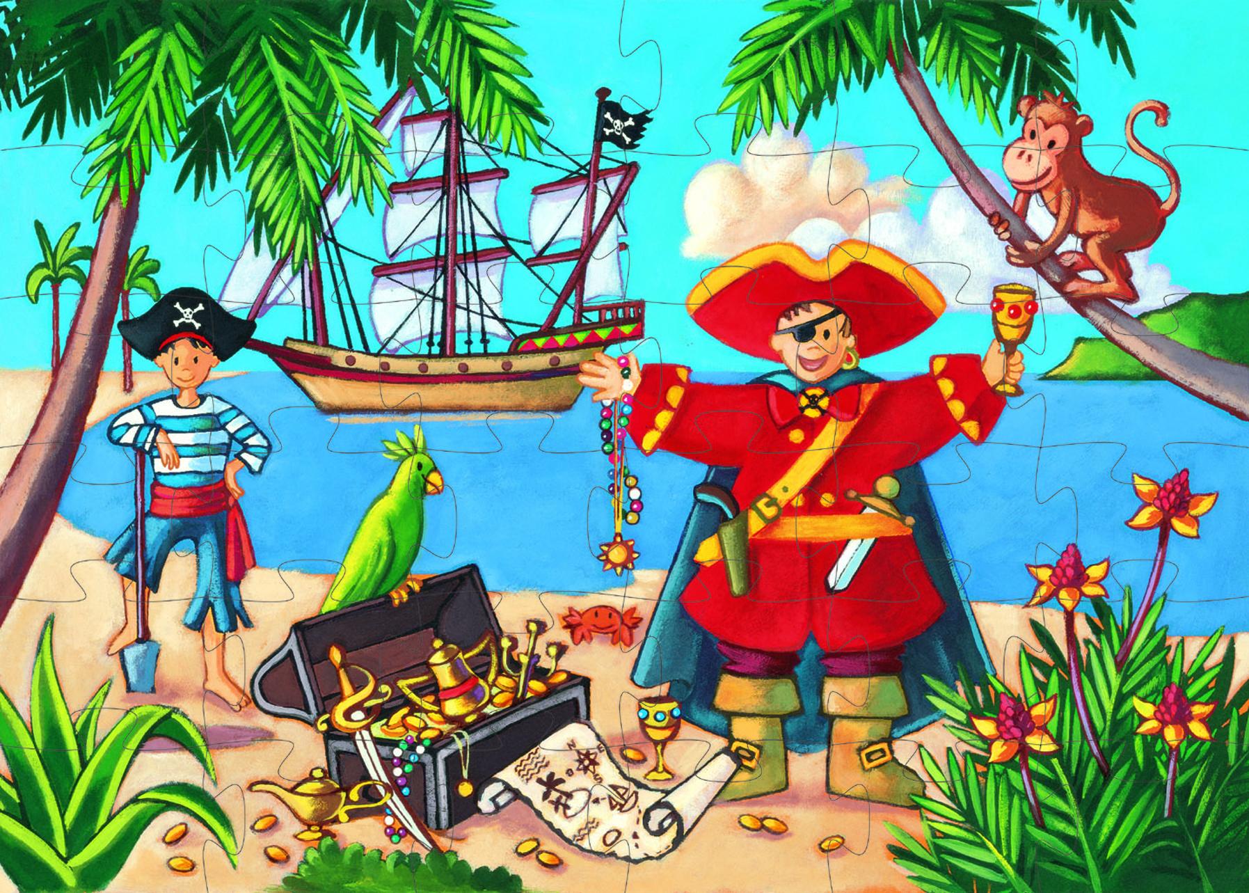 Djeco 7220 Silhouette Piratenschatz