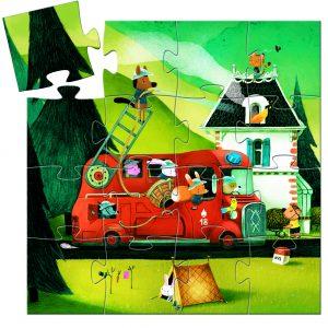 Djeco 7269 Silhouette Puzzle Feuerwehr