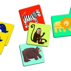 Djeco 8110 Lernspiel Memo Bunte Tiere