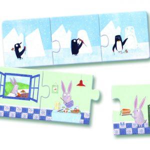 Djeco 8149 Puzzle trio Geschichten