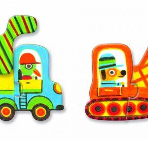 Djeco 8170 Puzzle Duo Fahrzeuge