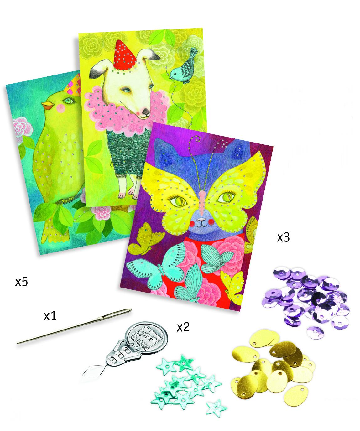 Djeco 8669 Stickerei Eleganter Karneval
