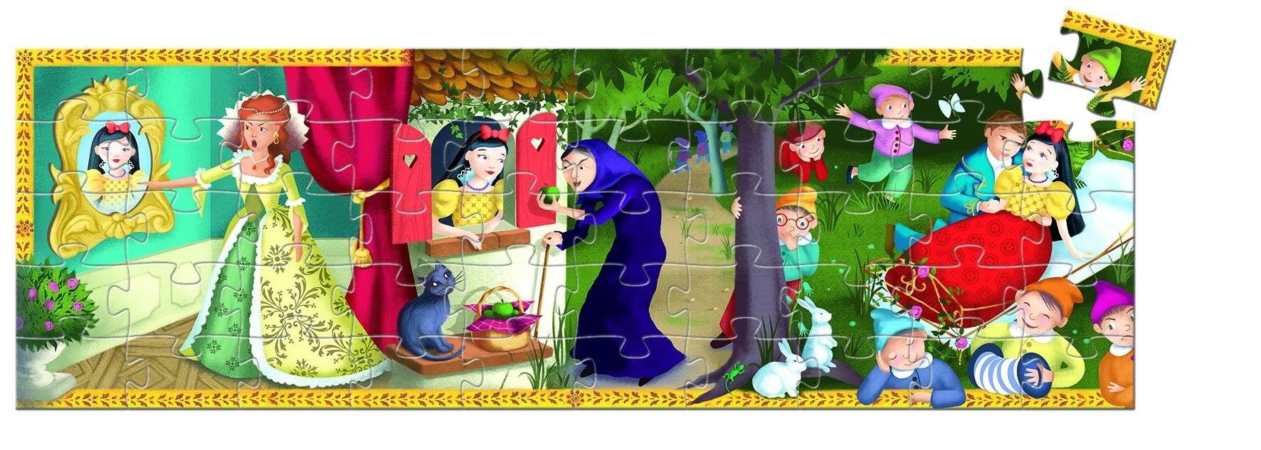 Djeco 7259 Silhouette Puzzle Schneewitchen