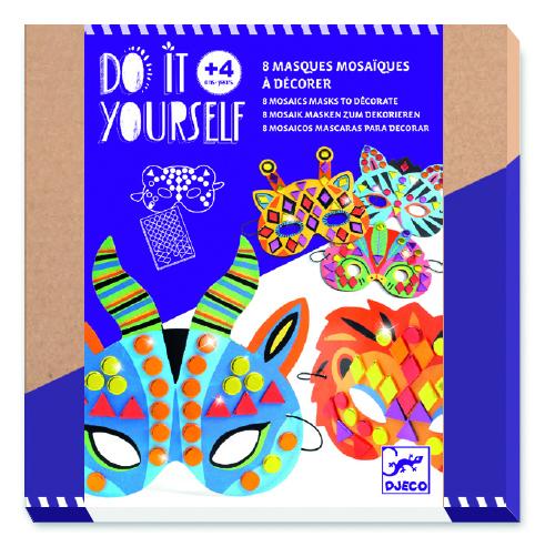 Djeco 7900 DIY Mosaik Masken Dschungeltiere