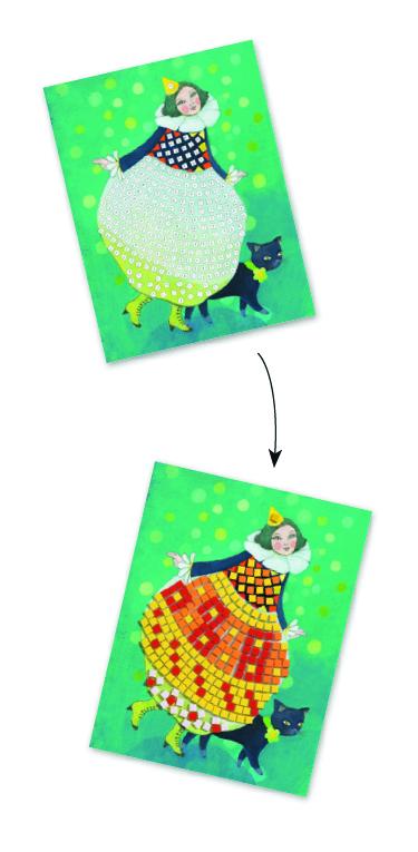 Djeco 9420 Mosaik Bastelset Fertig für die Feier