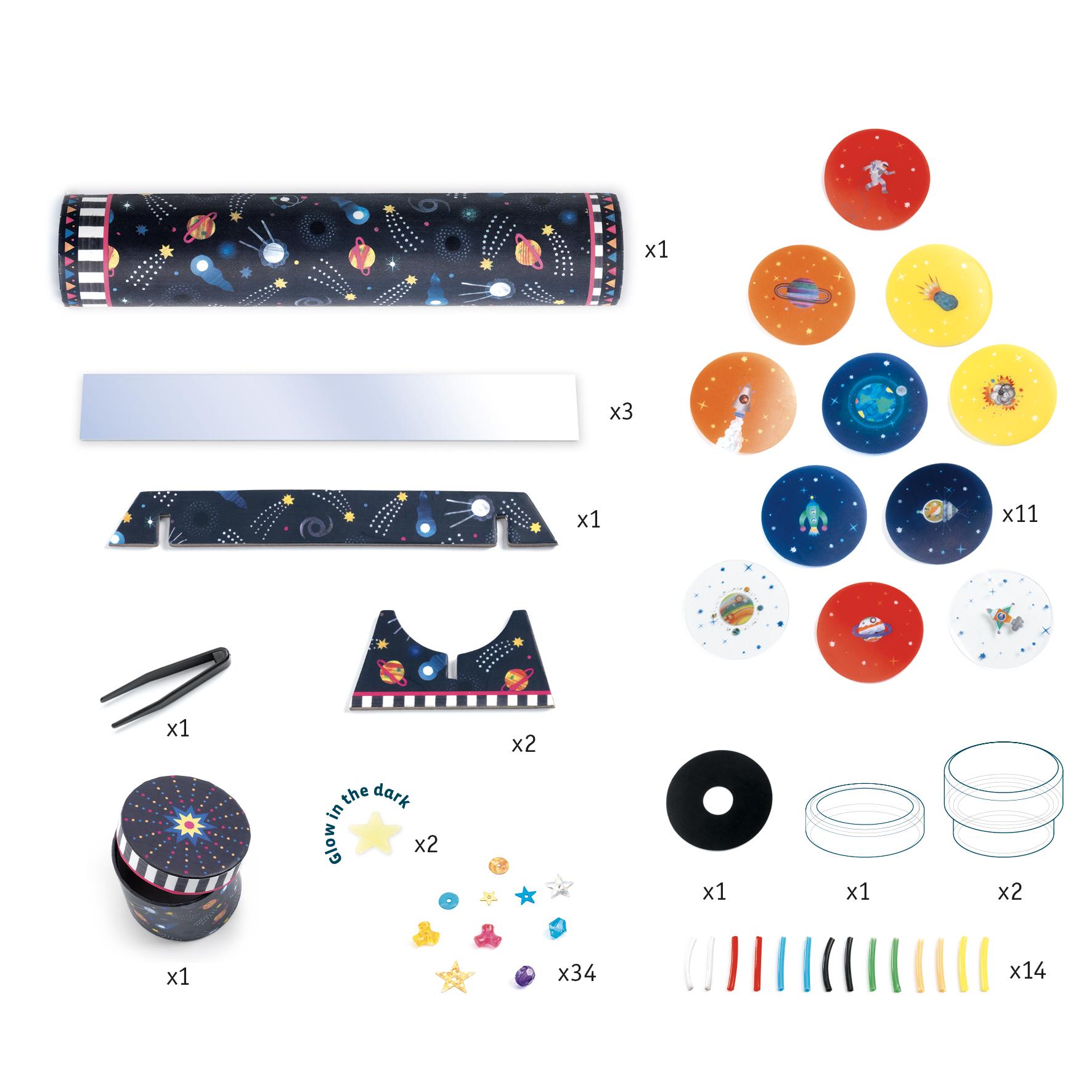 Djeco 7922 DIY Kaleidoskop Raumfahrt