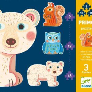 Djeco 7143 Primo Puzzle Im Wald