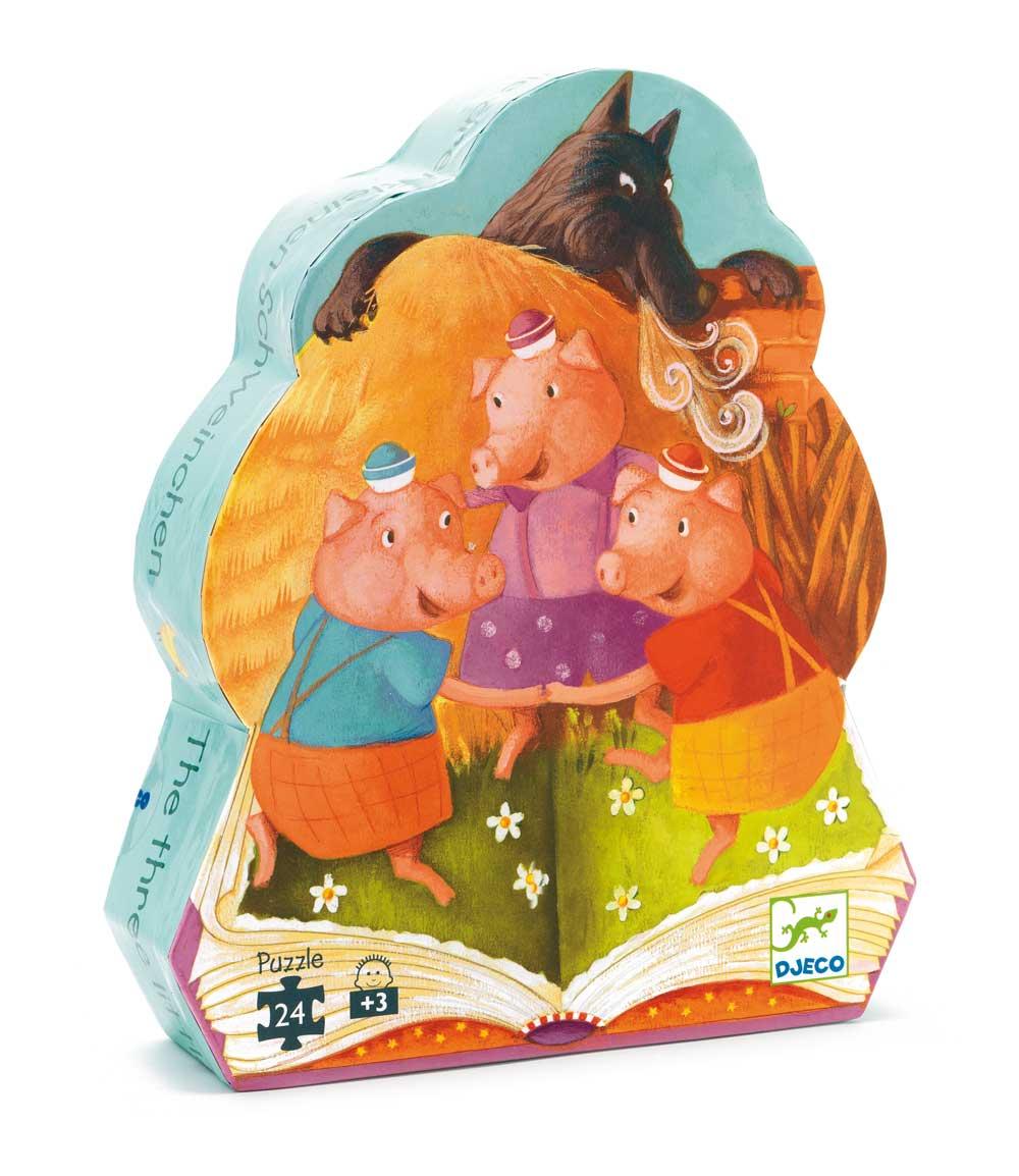Djeco 7212 Silhouette Puzzle Die 3 kleinen Schweine
