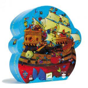 Djeco 7241 Silhouette Puzzle Barbarossas Boot