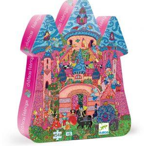 Djeco 7246 Silhouette Puzzle Märchenschloss