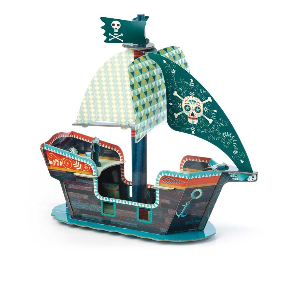 Djeco 7709 Pop to play Piratenschiff 3D
