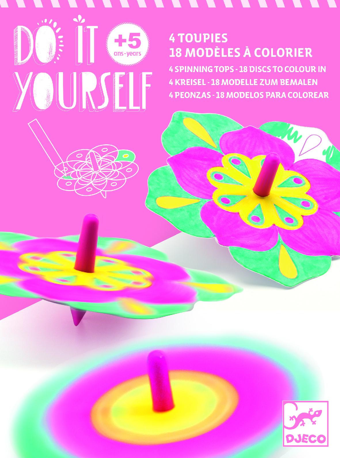 Djeco 7940 DIY Kreisel Blumen