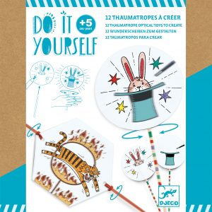 Djeco 7944 DIY 12 Wunderscheiben – Manege frei!