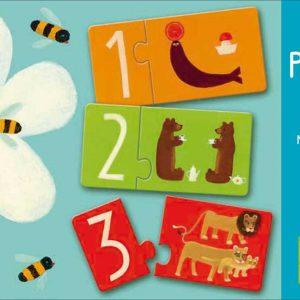 Djeco 8151 Puzzle duo Zahlen
