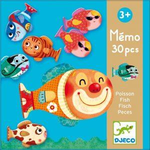 Djeco 8169 Lernspiel Memo Fisch