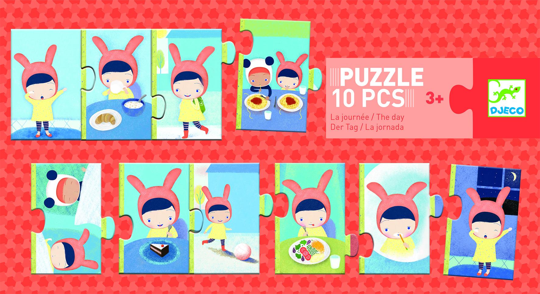 Djeco 8179 Puzzle Der Tag