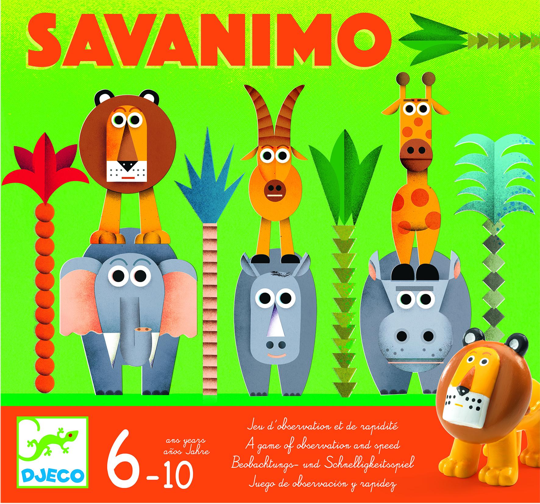 Djeco 8403 Spiel Savanimo Beobachtung & Schnelligkeit