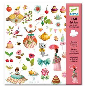 Djeco 8884 Stickerset Der Tee der Prinzessinnen