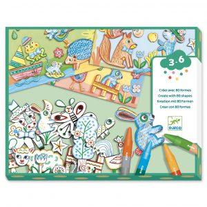 Djeco 8997 Bastelset Eine Welt kreieren, Tiere