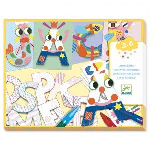 Djeco 8998 Bastelset Eine Welt kreieren, Buchstaben