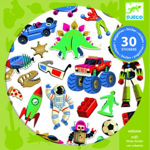 Djeco 9263 Stickerset Retro Toys
