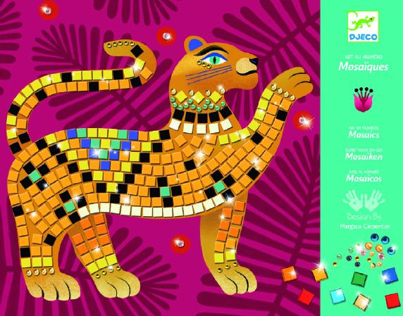 Djeco 9422 Mosaik Bastelset Im Herzen des Dschungels