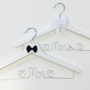 Kleiderbügel-Set Mr & Mrs silber