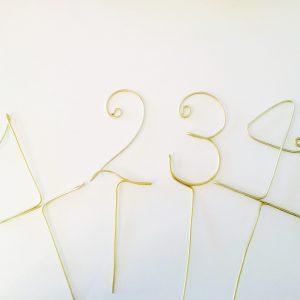 Tischnummer aus Draht