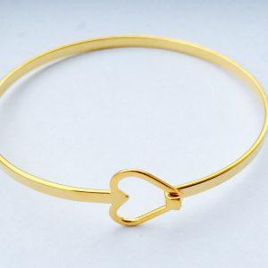 """Armband/Armreif """"Herz"""" gold"""