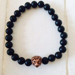 """Armband für Männer """"Löwe"""" braun"""