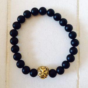 """Armband für Männer """"Löwe"""" gold"""