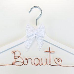 Kleiderbügel Braut kupfer