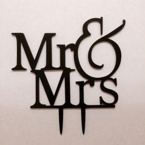 Cake Topper aus Acryl für Torte Mr & Mrs