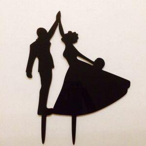 Cake Topper aus Acryl für Torte Tanzendes Brautpaar