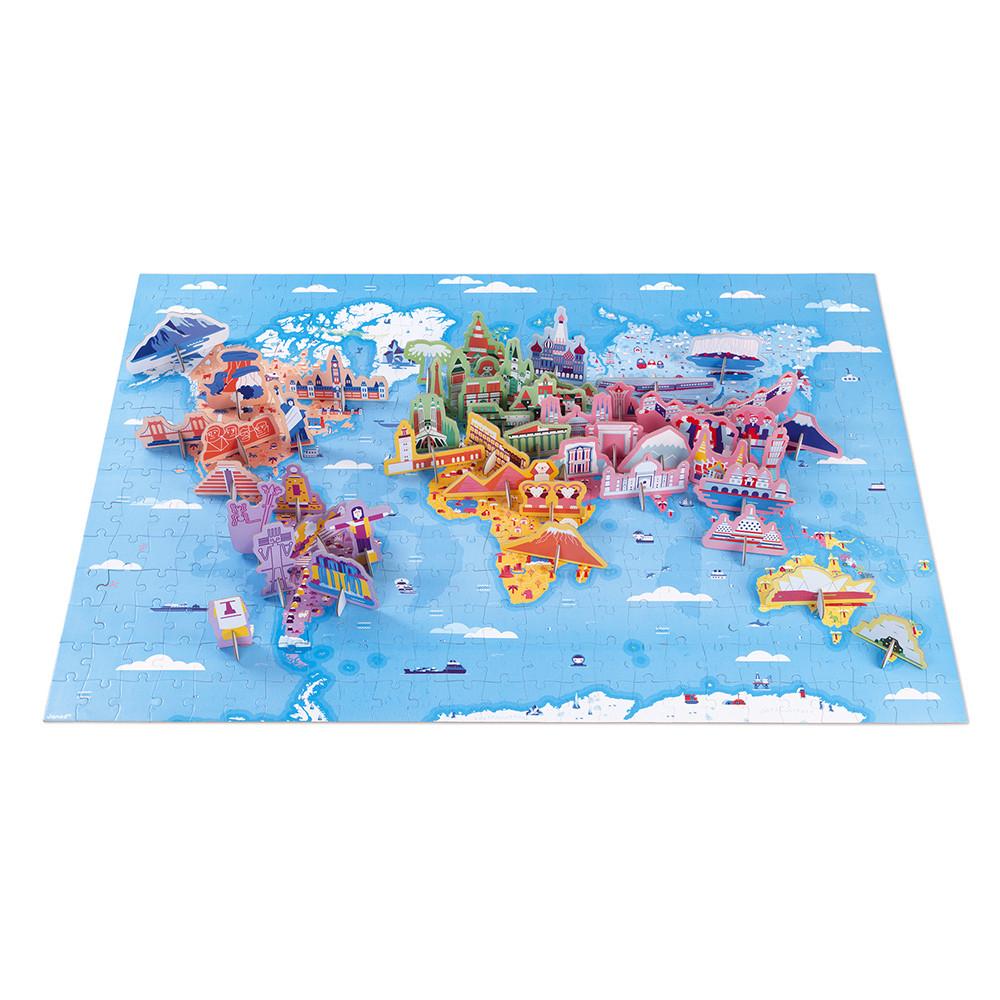 Janod J02677 Edukativ Puzzle Sehenswürdigkeiten