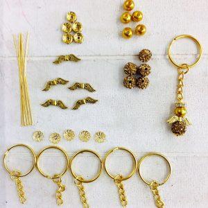 Bastelset Kleiner Schutzengel glitzer gold (gold)