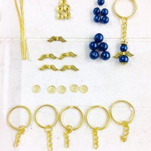 Bastelset Kleiner Schutzengel blau (gold)
