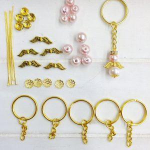 Bastelset Kleiner Schutzengel rosa (gold)